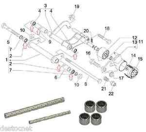 Kit réparation Bras oscillant/support moteur Piaggio