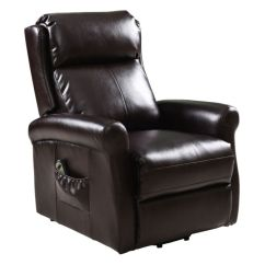 Power Lift Chair Dining Room Chairs Set Of 4 Giantex Brown Recliner Living Furniture With Electric Recliners Remote
