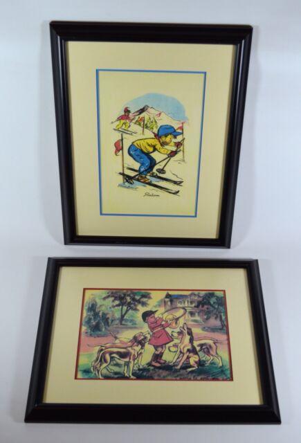 J'aime Le Son Du Cor : j'aime, Vintage, GERMAINE, BOURET, Prints, Slalom, J'aime, Framed