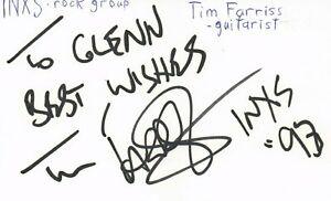 Tim Farriss Guitarist INXS Rock Band Music Signed Index