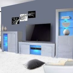 White Gloss Living Room Furniture Next Theaters Modern Matt Tv Unit Display Image Is Loading