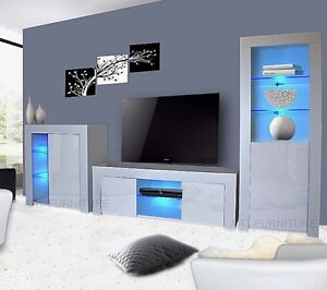 contemporary white living room furniture complete sets with tv modern matt gloss unit display image is loading