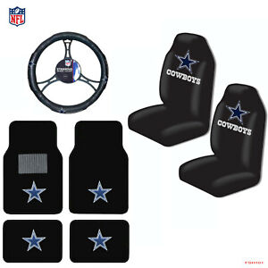 dallas cowboys chair cover folding concert lawn chairs new nfl car truck seat covers floor mats steering image is loading