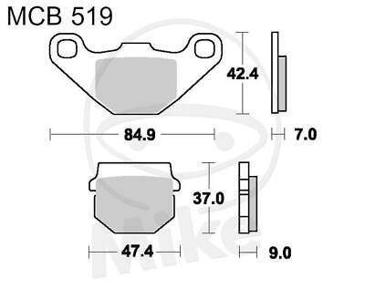 TRW Lucas Brake Pads mcb519si Front Yamaha Yfm 300 Grizzly