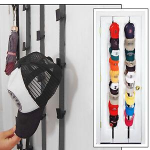 details about cap rack 16 baseball hats visors wall door hanger holder hook storage organizer
