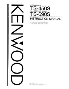 Kenwood TS-450S TS-690S Instruction Operators Maintenance