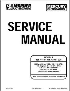 Mercury Mariner 135,150,175,200,225 2 Stroke OEM Service