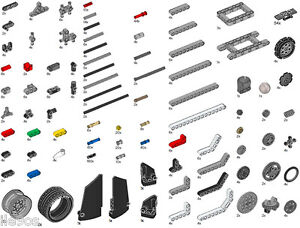 x719 Lego EV3 Technic Parts PACK (beam,gear,axle,robot