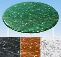 "NEW ~ Fitted Marble 36"" - 48"" Round Vinyl Table Cover ..."