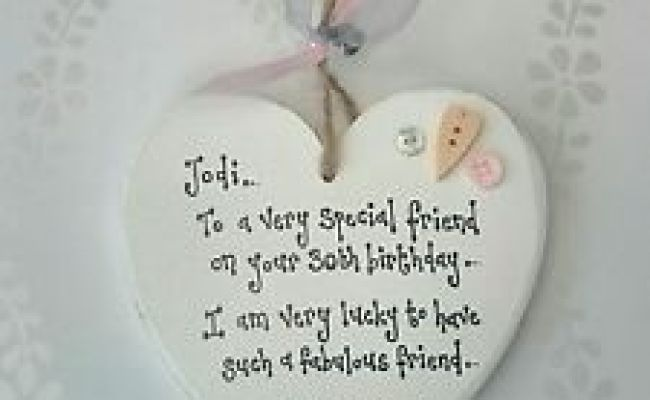 Personalised Special Best Friend Gift 18th 21st 30th 40