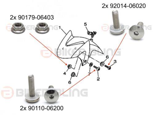 Yamaha TDM 900 2002-2010 large headed screen fairing bolts