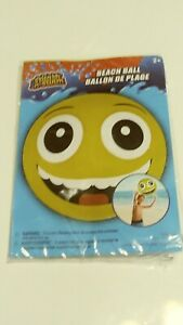 Beach Ball Emoji : beach, emoji, Emoji, Splash-n-Swim, Inflatable, Beach, Smiling, Water, 20-inches