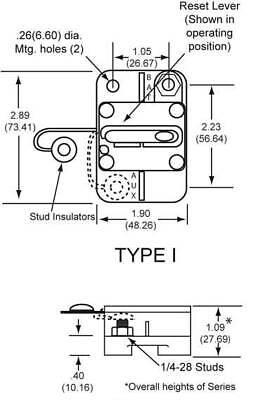 NEW OEM COOPER BUSSMAN CIRCUIT BREAKER FITS 0-30VDC 60 AMP