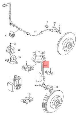 Genuine VW SKODA SEAT Fox Wiring Harness For Speed Sensor