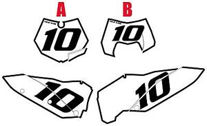 Fits KTM 250 SX-F 2007-2010 Pre-Printed White Backgrounds