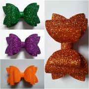 girls sparkly glitter hair bow