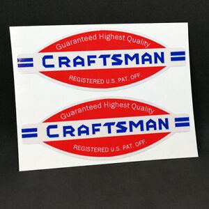 Craftsman Decals Stickers
