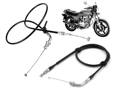 Set of Throttle Cable Cables Honda CB250N Superdream 1979