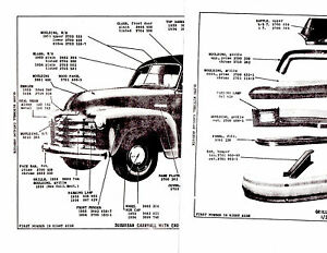 1942 1946 1947 1948 1949-1954 CHEVROLET TRUCK BODY PARTS