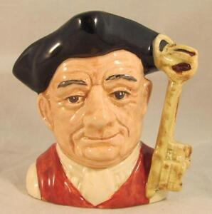 Royal Doulton Small Character Jug Toby Gaoler D6577 Retired 1983   eBay