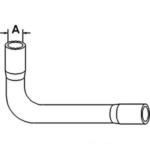 Thermostat Bypass Hose Fits Case International Tractor 384