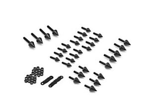 Motorcycle Spike Fairing Bolts Black Kit For 2000 Suzuki