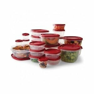 rubbermaid kitchen storage containers bulletin board 10y8 50 pc set food easy find lids 071691437482