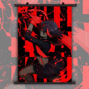 details about kill la kill hd print anime wall poster scroll room decor