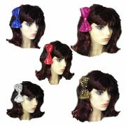 sequin hair bow large