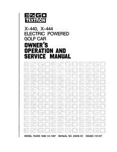 1986 1987 EZ-GO E-Z-GO Golf Cart Operator Service Manual