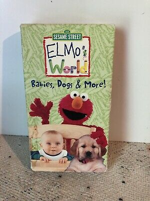Elmo's World Babies Dogs And More 2000 Vhs : elmo's, world, babies, Elmos, World, Babies,, (VHS,, 2000), 74645172132