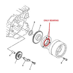 YAMAHA 2003-07 TTR 125 TT-R starter clutch ruota libera