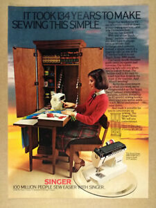 1980 Singer Sewing Machine : singer, sewing, machine, Singer, Touch-Tronic, Sewing, Machines, Vintage, Print