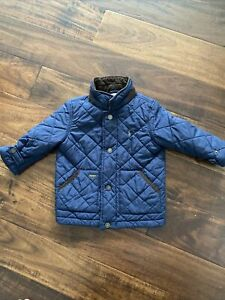 POLO RALPH LAUREN Toddler Boys Quilted Barn Jacket Navy Size: 24M   eBay