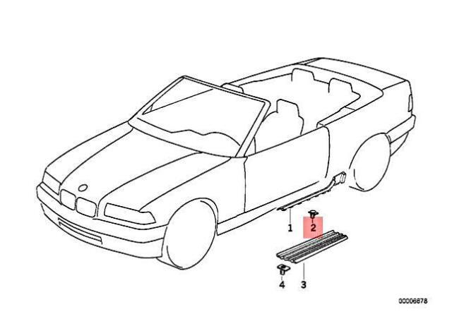 Genuine BMW Z3 E36 318i 320i 323i 325i 328i M3 3.2 Clamp