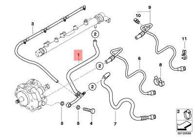 Genuine BMW E46 Cabrio Fuel Injection System Return Line