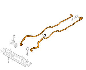 BMW X5 F15 Transmission Oil Cooler Line 17227636885 NEW