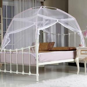 White Portable Folding Mesh Insect Bed Canopy Dome Tent