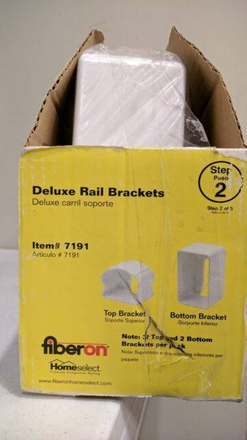 Fiberon Deluxe Rail Brackets White 2 Top 2 Bottom Per Package | Deluxe Stair And Railing | Stainless Steel Stairs | Houzz | Barclay Hollywood | Mg Alloy | Interior Stair