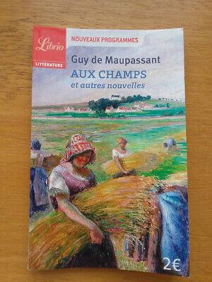 Guy De Maupassant Aux Champs : maupassant, champs, Livre, College, Librio, Maupassant, Champs, Autres, Nouvelles