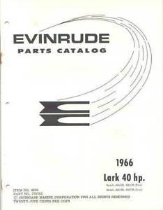 1966 Evinrude lark 40 HP 40662B 40663B 40672B 40673B