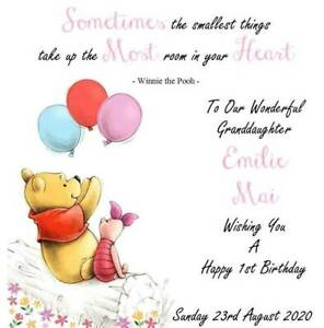 details about handmade personalised 6 square winnie the pooh birthday card fast postage