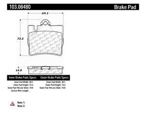 Disc Brake Pad Set fits 2000-2003 Mercedes-Benz CL500,S500