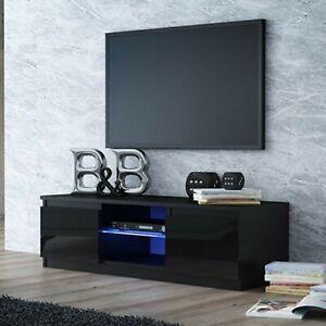 details zu tv schrank lowboard fernseher hochglanz schrank tv mobel fernsehtisch 140cm led
