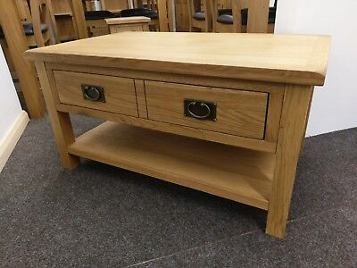 baysdale rustic oak coffee table with drawers occasional storage table ebay