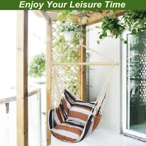 indoor swing chairs uk reclining chair movie theater outdoor hanging rope hammock seat garden yard image is loading