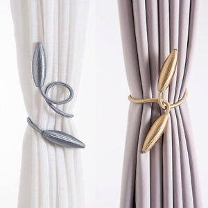 details about 2pcs curtain tiebacks tie backs buckle clips holdbacks home window accessories