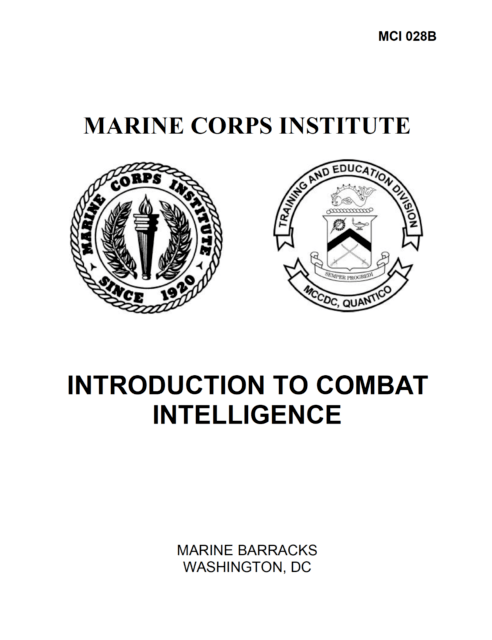 260 Page MARINE CORPS INSTITUTE INTRODUCTION TO COMBAT