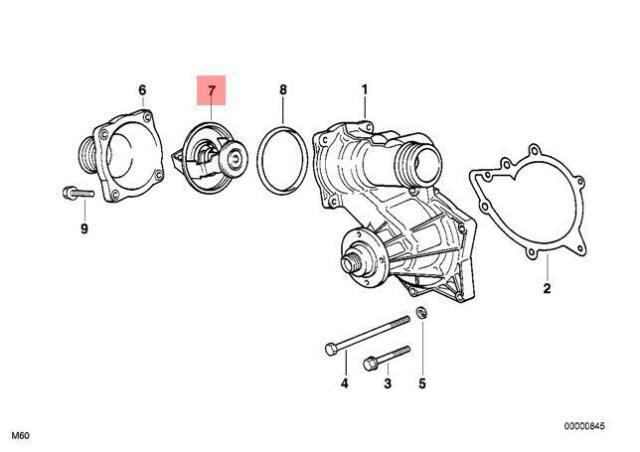Genuine Engine Thermostat BMW E31 E32 E34 E38 530i 540i