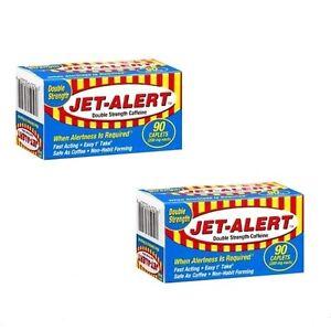 2 Pks Double Strength Jet-Alert Caffeine Energy Pills 200 ...